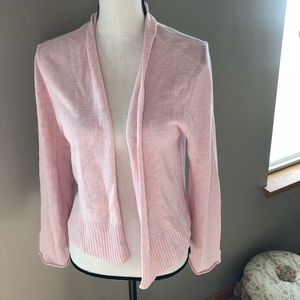Eileen Fisher 100% Linen Pink Cardigan  Size S